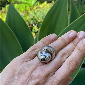 John Hardy Silver Bamboo Twist Ring